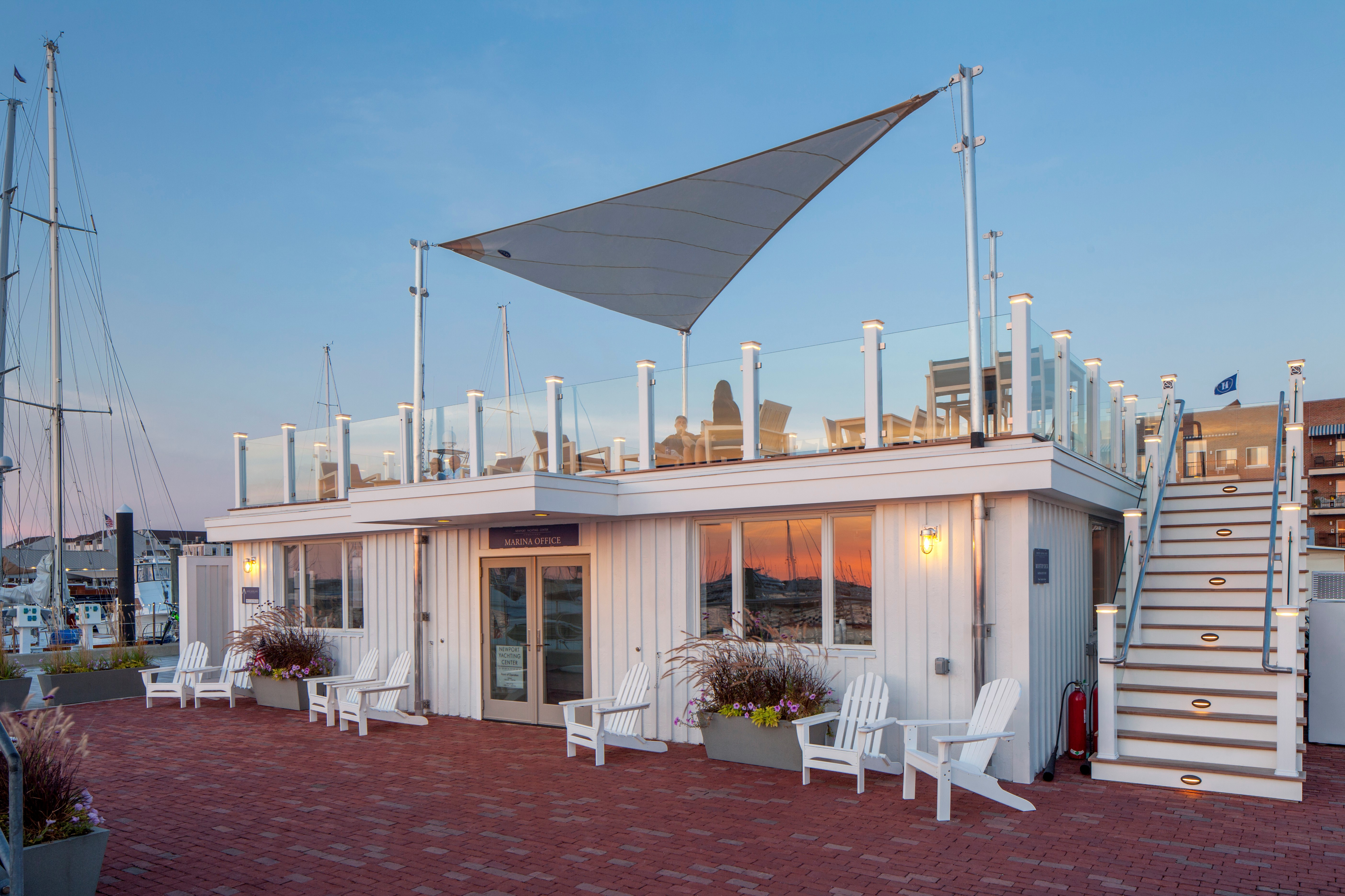 Newport Yachting Center rooftop